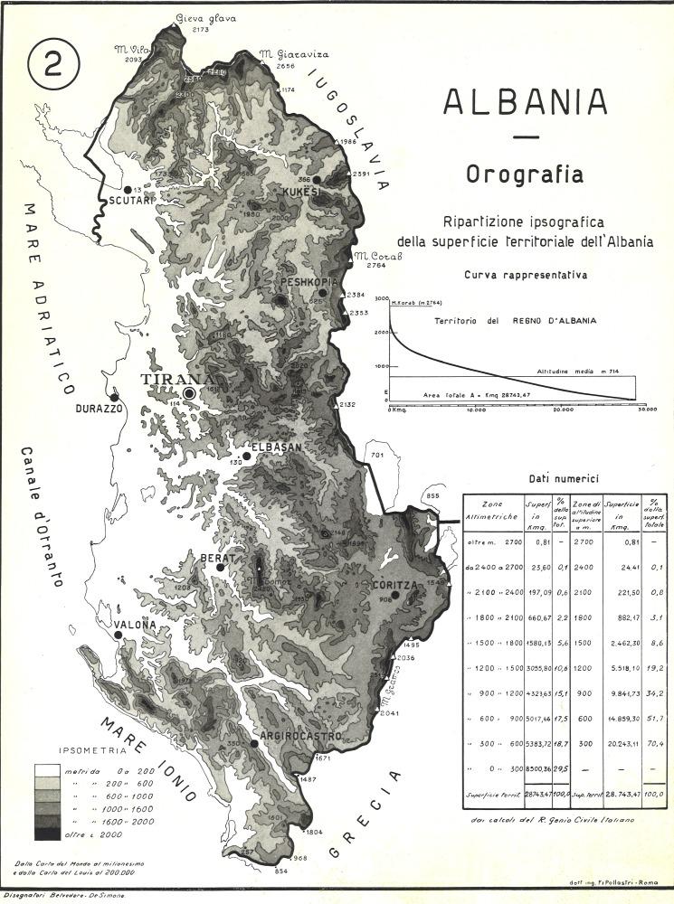 Cartina Albania Fisica.Dieci Cartine Dimostrative Sul Territorio Dell Albania Del 1939