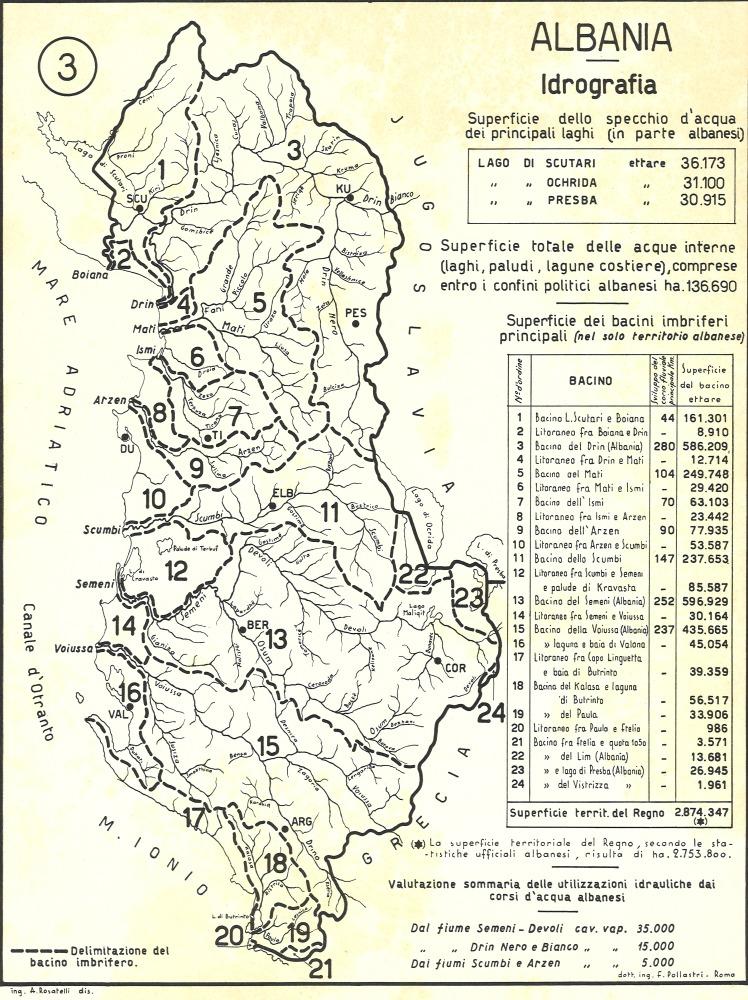 3: Albania - Idrografia