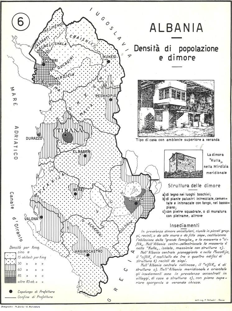 6: Albania - Densità di popolazione e dimore