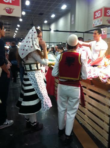 Stand albanese al Salone Internazonale del Gusto a Torino 2014