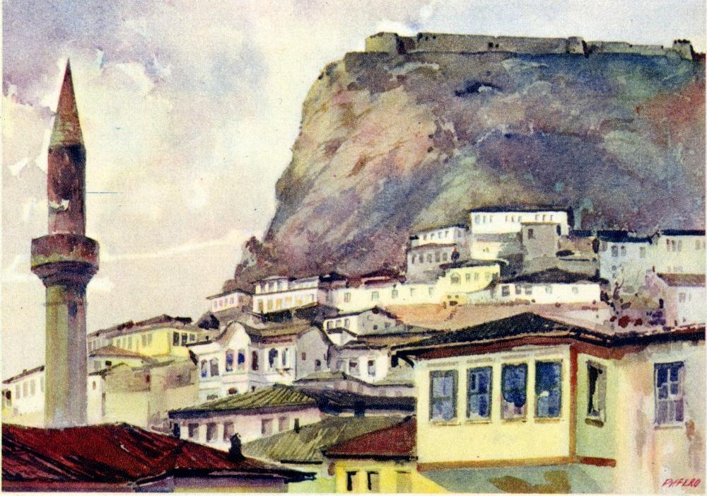 Argirocastro - Parte della città e la fortezza