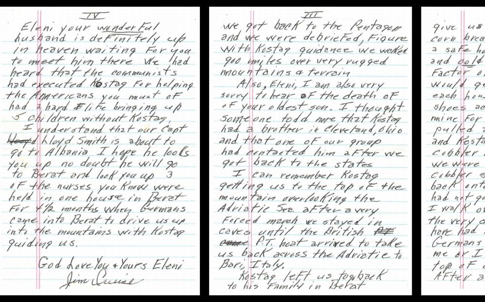Letters of appreciation from the Americans directed to the Stefa family.
