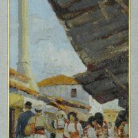 UN RICORDO DEL BAZAR DI TIRANA IN UN QUADRO DEL 1940