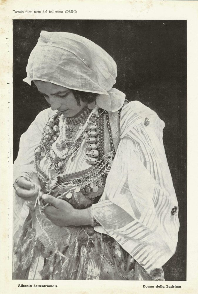 A Photo Insert Of The 3 Issue Of The Magazine, Published On May 1st Of The 1941. The Image Depicts A Woman In Typical Clothes In The North Of Albania