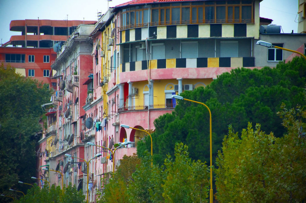 Colorful Buildings Of Tirana