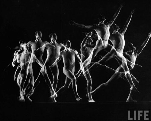 Gjonmili 2 Ballet Dancers, Black And White Movements