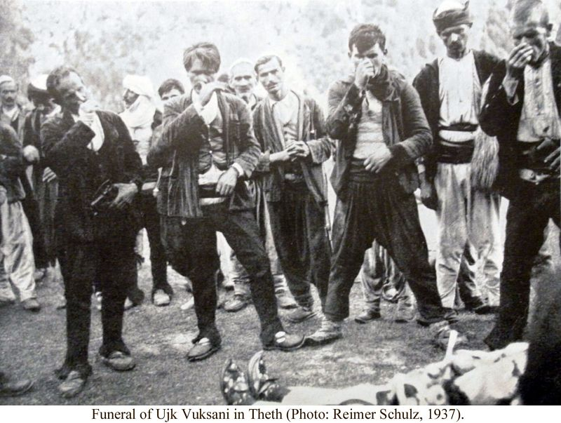 Gjama and Burrave Funeral by Ujk Vuksani in Theth (Photo by Reimer Schulz, 1937) 3