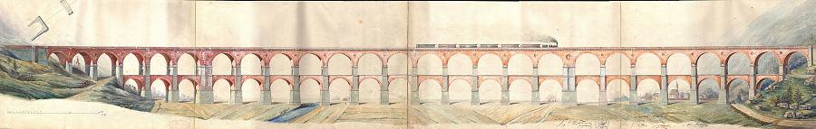 Borovnica Viaduct Original Plan by Carlo Ghega