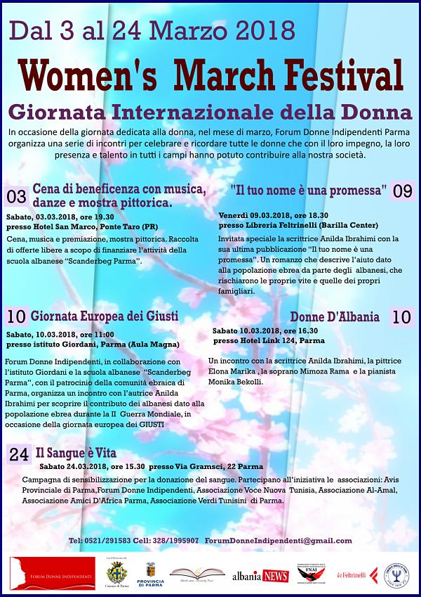 Volantino Finale Evento Parma Donne