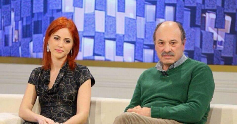 Edmond Budina e Adele Budina in un programma televisivo albanese