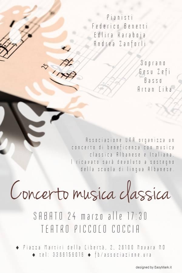 Classical Music Concert Piccolo Coccia Theater Novara Ura Association