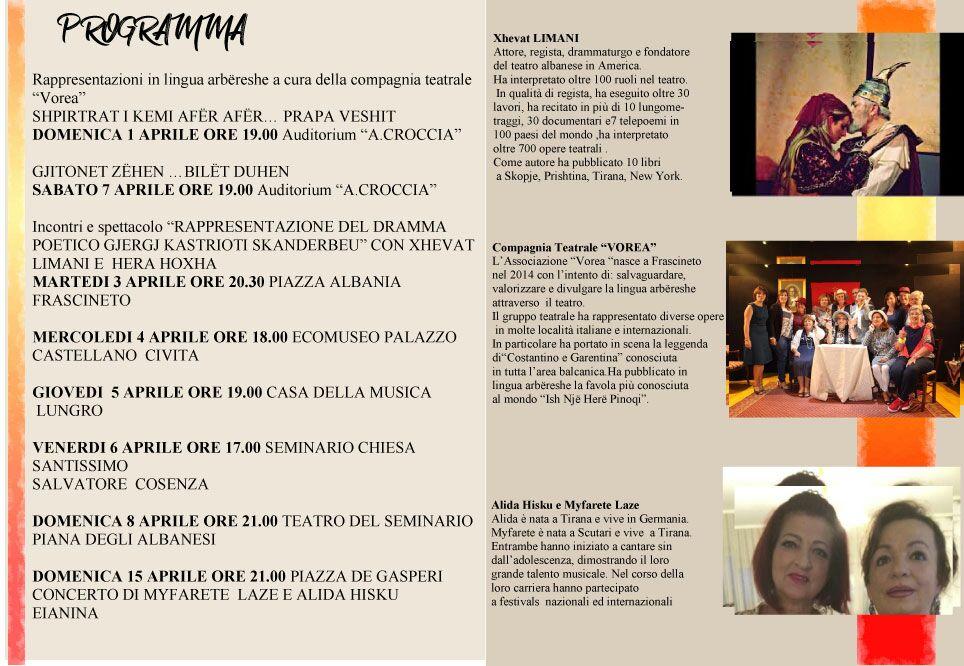 Programma La pasqua italo-albanese degli arbëresh di Frascineto