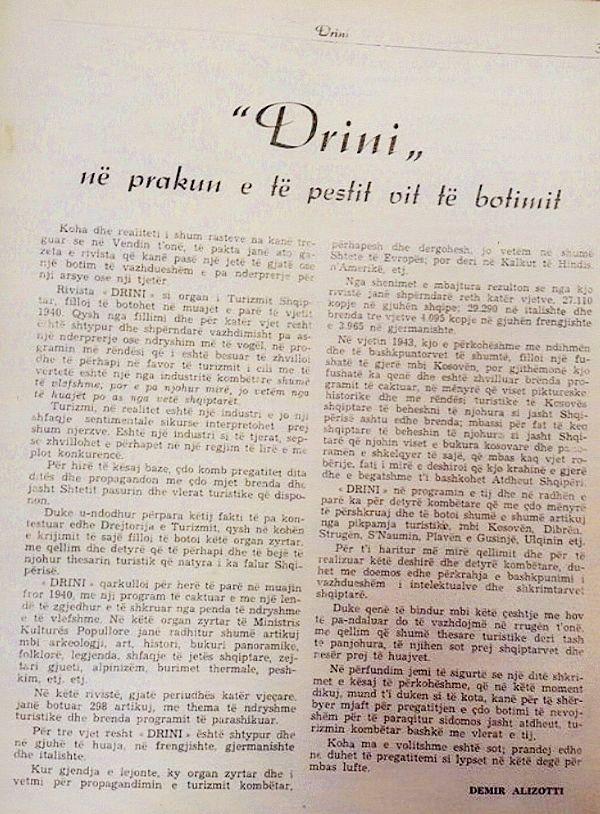 DRINI 1 1944 Articolo di Demir Alizotti