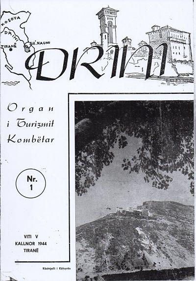 Copertina della rivista Drini- Bollettino mensile del Turismo Albanese