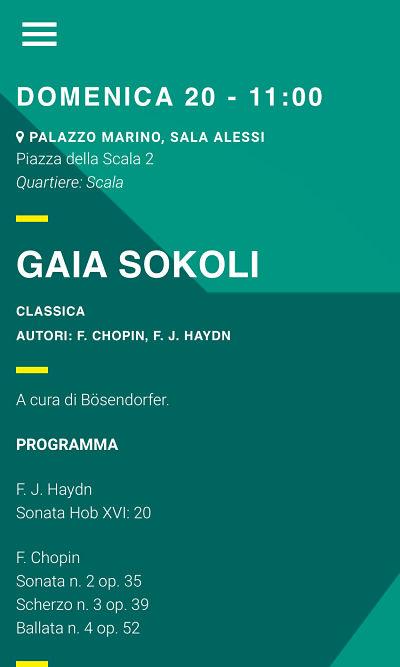 Gaia Sokoli Programma