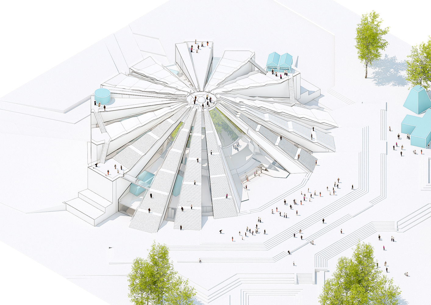 Aerial View Of The Pyramid Of Tirana, By MVRDV