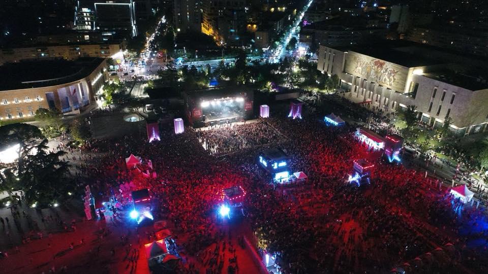 Ermal Meta In Concert In Scanderbeg Square 1 June 2018