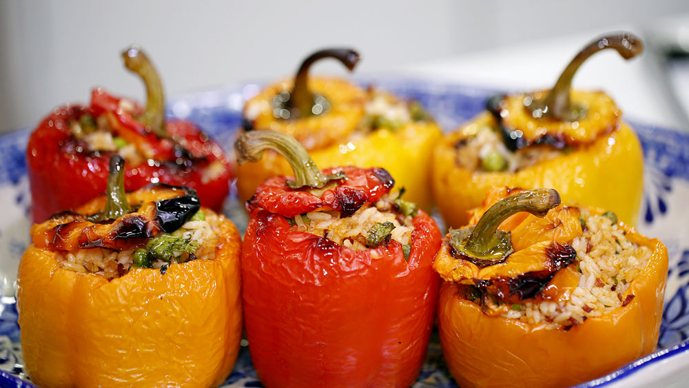 Speca të mbushur Albanian dishes