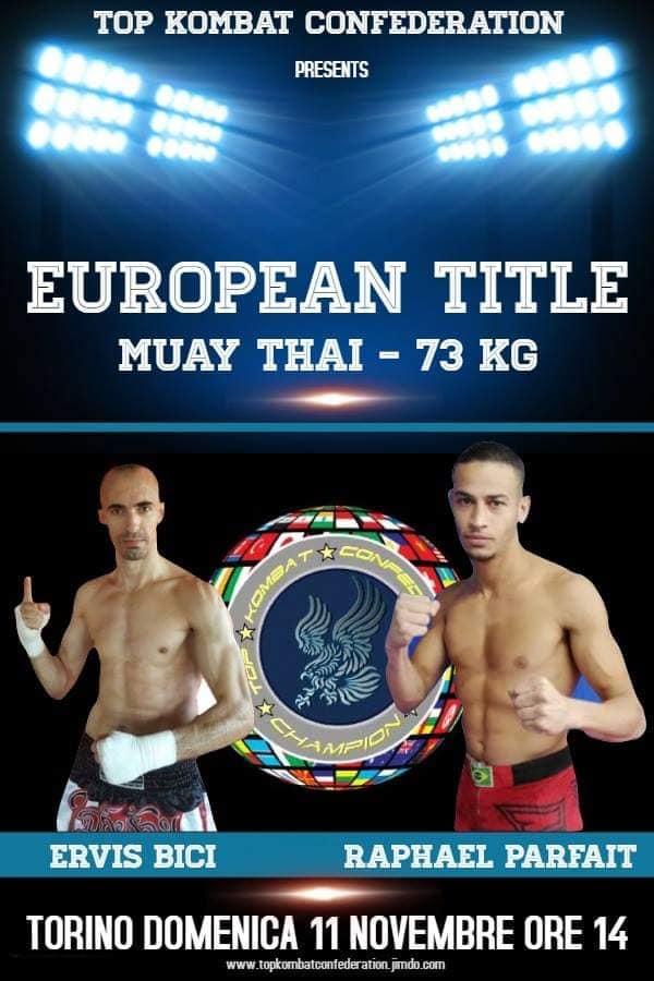 Turin Ervis Bike Against Raphael Parfaid Muay Thai