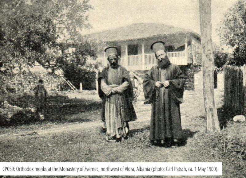 Monaci ortodossi al Monastero di Zvërnec