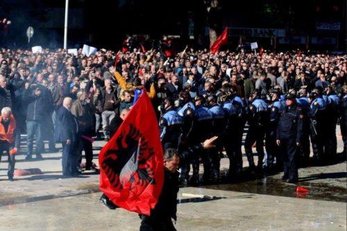 Protest Tirana 16 February 2019 1