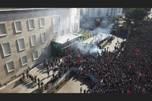 Protest Tirana 16 February 2019 2