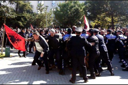 Protest Tirana 16 February 2019 3