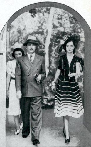 Il re Zog con la regina Geraldine a Stoccolma, 1940