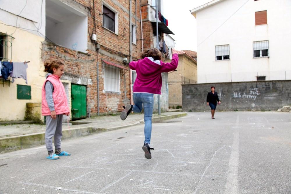 Bambini Giocando Albania