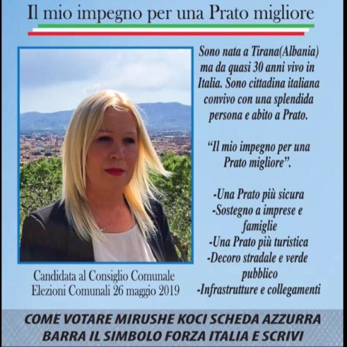 Mirushe Koci, a candidate for Prato