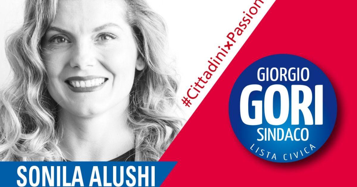 Sonila Alushi, candidata con la Lista Gori a Bergamo