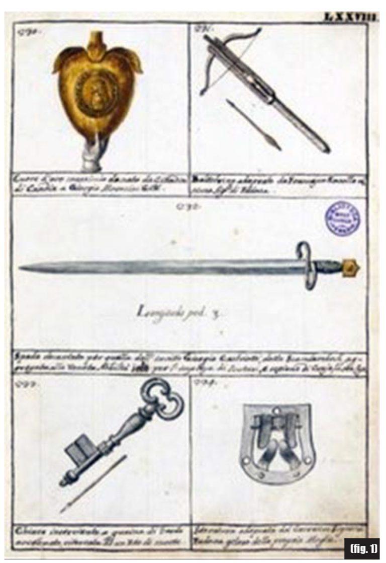 La spada considerata come personale di Scanderbeg