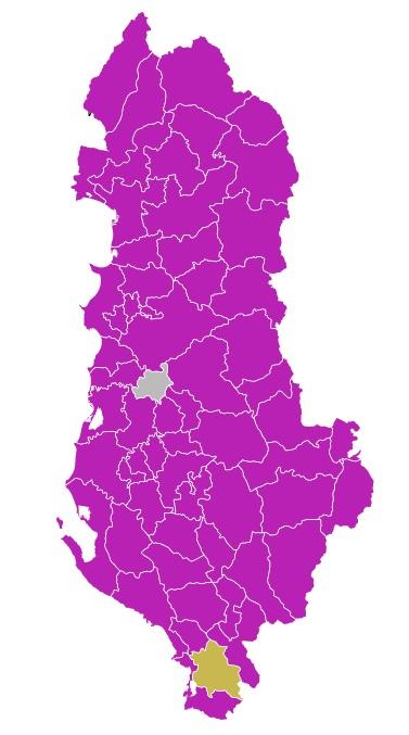 Mappa Elezioni Albania