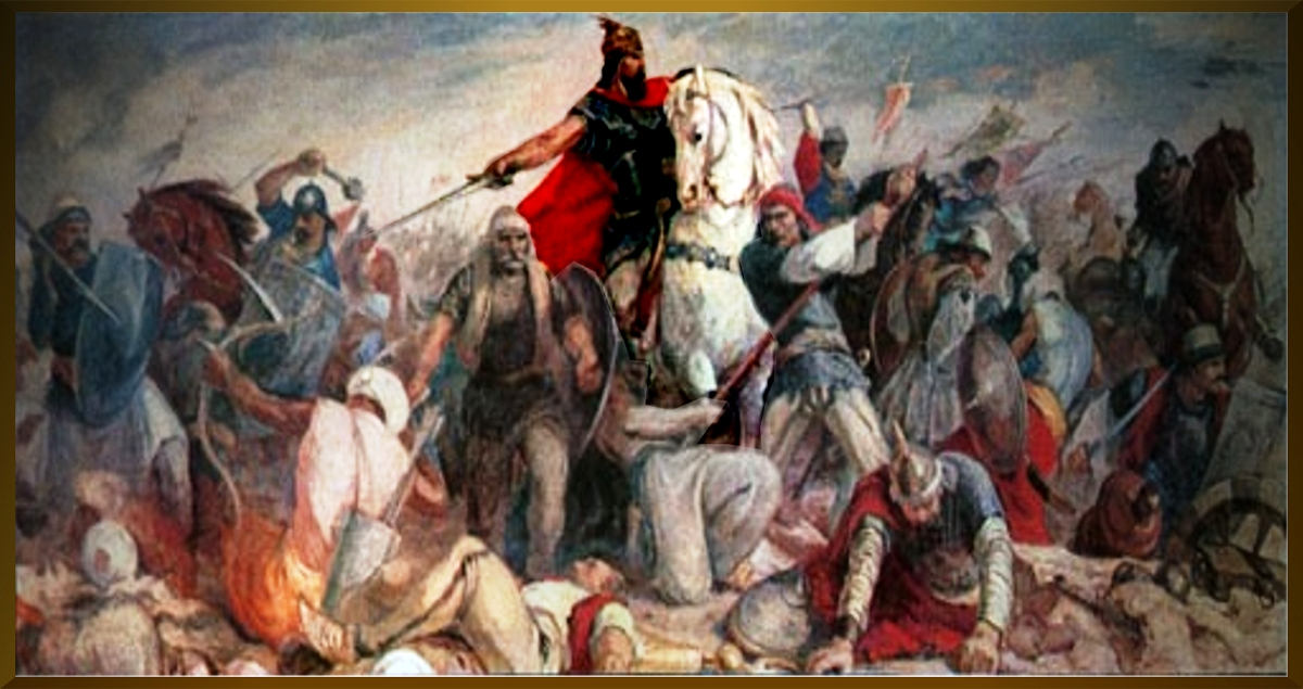 Skanderbeg in battle, 1564