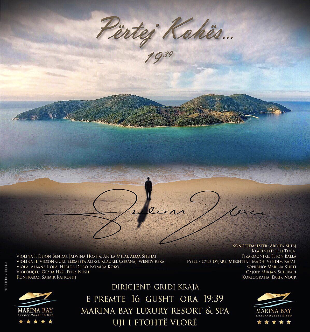 «Përtej kohës» [beyond time], the 16 August concert by Aulon Naçi