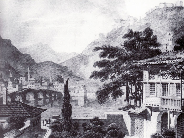 Berat, drawing by C. Cockerell, 1813