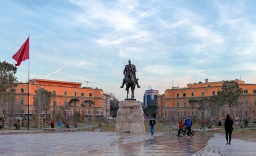 Tirana, the Albanian capital