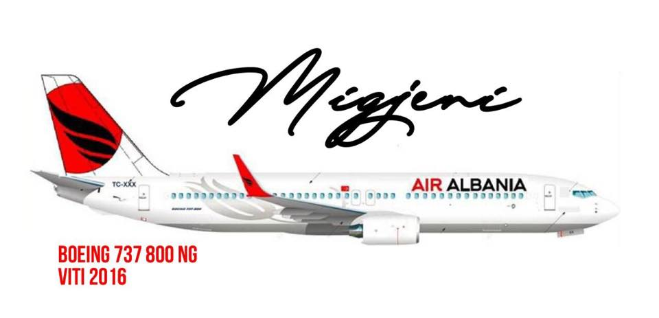 """Migjeni"", the second aircraft of the 'Air Albania' fleet"