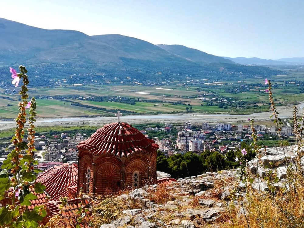 seen from the castle of Berat.