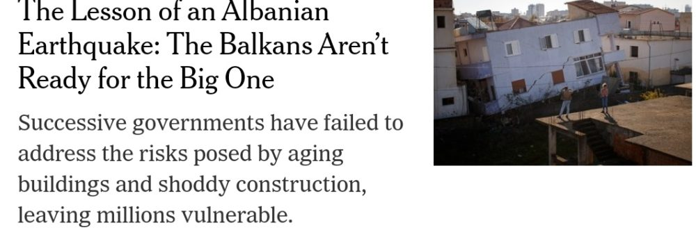 New York Times Albania earthquake