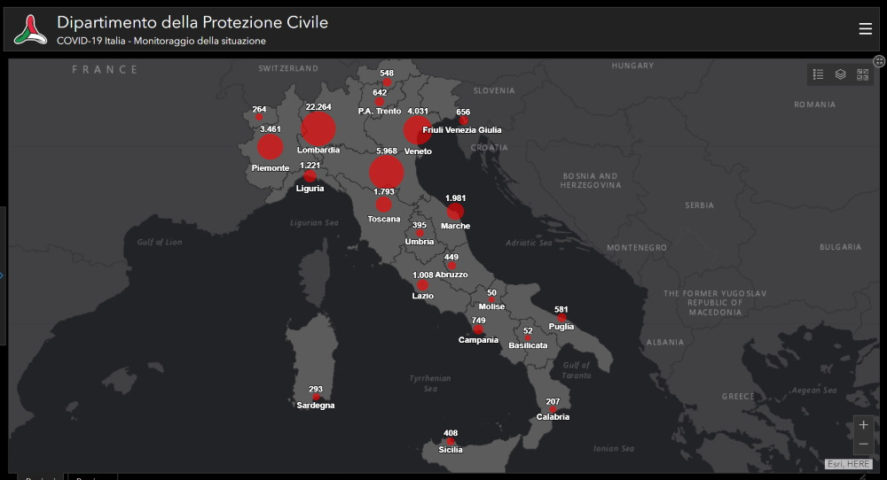 COVID-19 , la situazione in Italia: 20 marzo 2020, ore 18.00