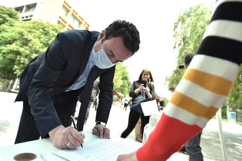 Albin Kurti, leader del movimento Vetëvendosje