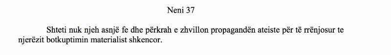 Shqipëria Neni 37