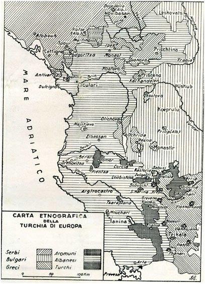 Harta e Shqipërisë natyrale e vitit 1867