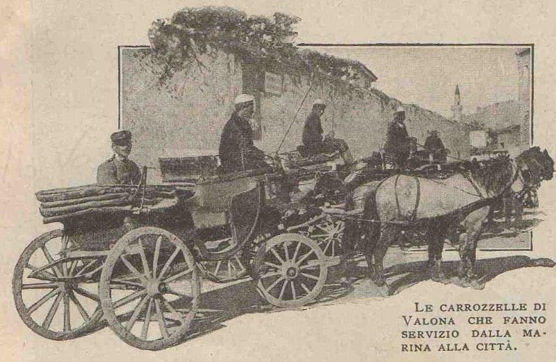 Karrocat e Vlorës që bëjnë shërbimin e transportit nga porti në qytet