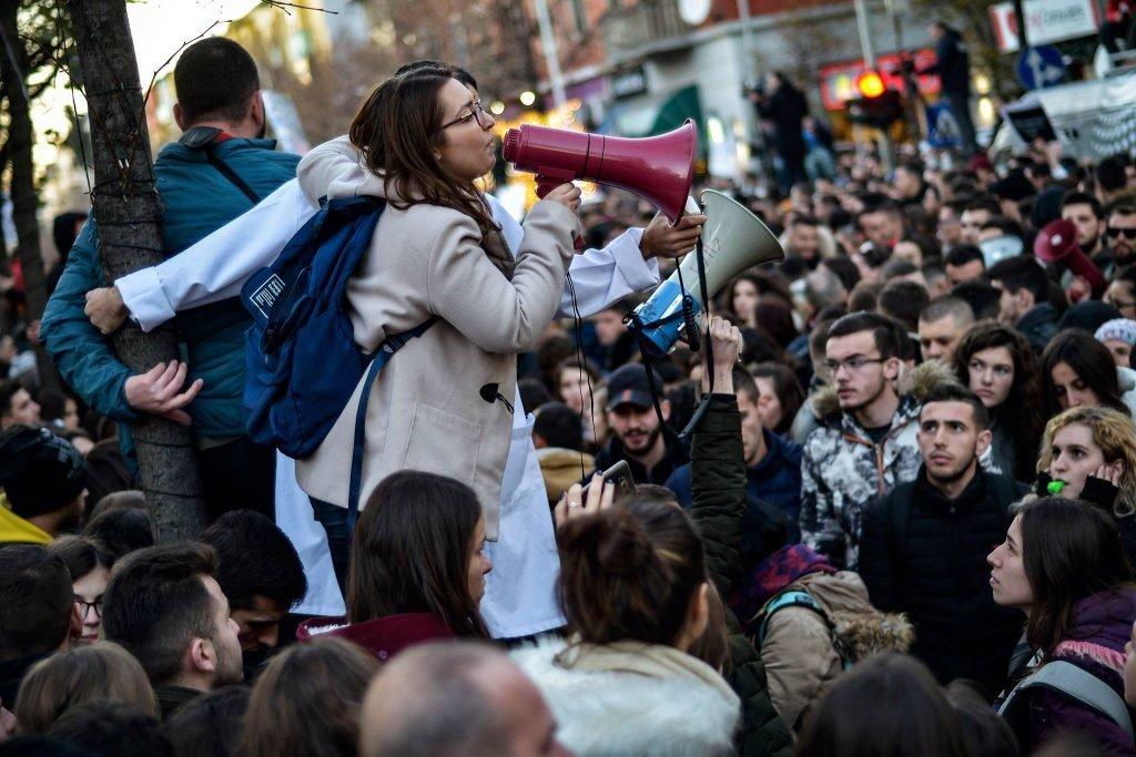 Protesta studentore tirane 6